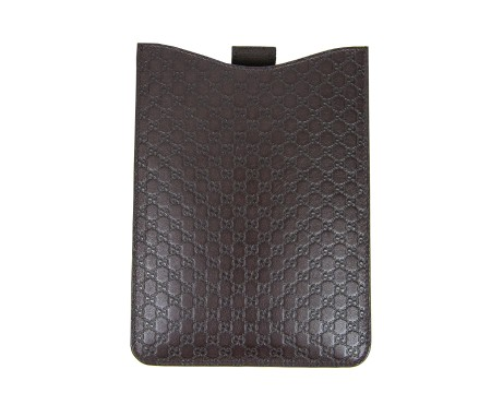 Shop GUCCI Saldi Cover: Gucci porta mini Ipad microgucissma marrone  100% pelle Made in Italy. 325721 BMJIN-2019