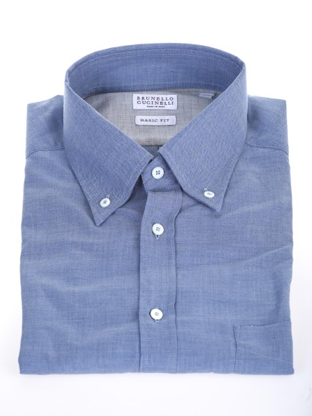 shop BRUNELLO CUCINELLI  Camicia: Brunello Cucinelli Camicia celeste button down. Basic fit. Composizione: 100% cotone. Made in Italy.. MG6710068-C015 number 3251730