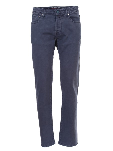 shop JACOB COHEN  Jeans: Jacob Cohen Jeans a gamba dritta in denim stretch blu scuro. Composizione: 98% cotone, 2% fibra sintetica. Made in Italy.. J688 COMF 05406-V890