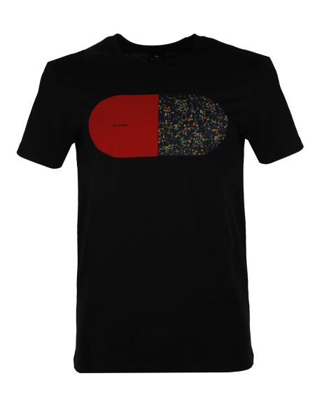 shop PAUL SMITH  T-shirt: Paul Smith T shirt in cotone organico con stampa a contrasto sul petto. Regular fit. Girocollo a costine. Composizione: 100% cotone organico.. M2R 010R AP0716-79 number 5234602