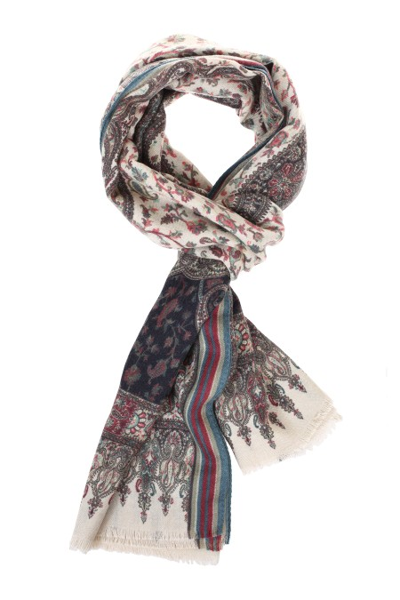Shop ETRO  Sciarpa: Etro sciarpa in misto seta con stampa. Bordi sfrangiati. Stampa all over. Multicolor. Composizione: 70% cashmere 30% seta. Made in Italy. 10007 4566-0800