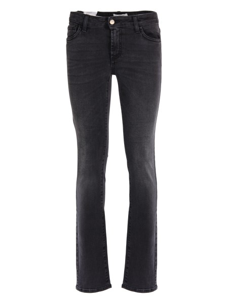 Shop ROY ROGER'S  Jeans: Roy Roger's jeans nero elasticizzato. Composizione: 98% cotone 2% elastan. Made in Italy.. FLO WOMAN BLACK DENIM-N