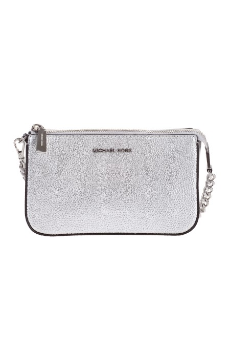 "Shop MICHAEL KORS  Borsa: Michael ""Michael"" Kors borsa mini con Logo. Finiture in metallo color argento. Chiusura con zip. Tracolla con catena rimovibile. Logo Michael Kors in metallo. Composizione: 100% pelle.. 32F7MFDW6M-040"