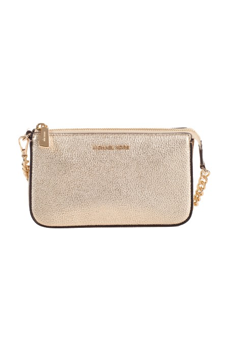 "Shop MICHAEL KORS  Borsa: Michael ""Michael"" Kors borsa mini con Logo. Finiture in metallo color oro. Chiusura con zip. Tracolla con catena rimovibile. Logo Michael Kors in metallo. Composizione: 100% pelle.. 32F7MFDW6M-740"