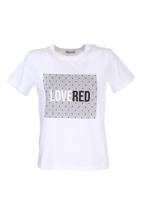 Shop RED VALENTINO  T-shirt: Red Valentino t-shirt con stampa LoveRed. Girocollo. Maniche corte. Stampa LoveRed centrale. Vestibilità regolare. Composizione: 100% cotone.. TR3MG05Z516-001