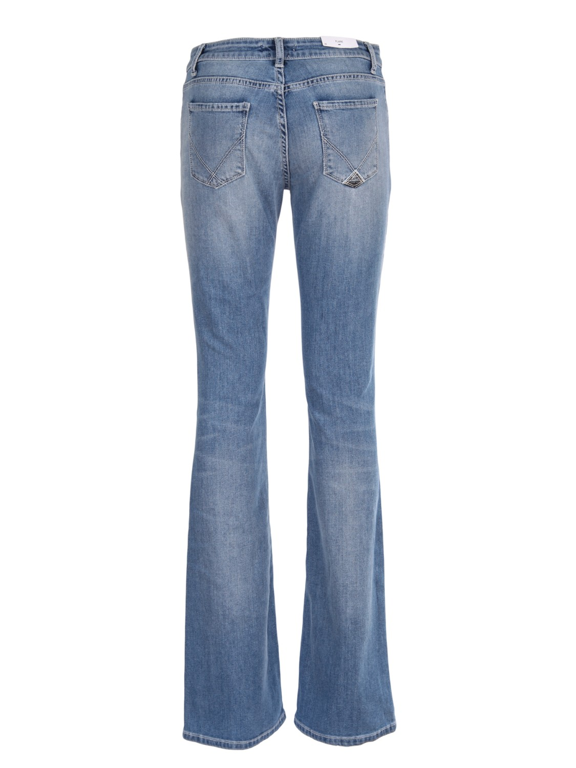 shop ROY ROGER'S  Jeans: Roy Roger's jeans elasticizzato. Con strappi. Gamba a zampa. Composizione: 98% cotone 2% elastan. Made in Italy.. MEL WOMAN-D number 5198925